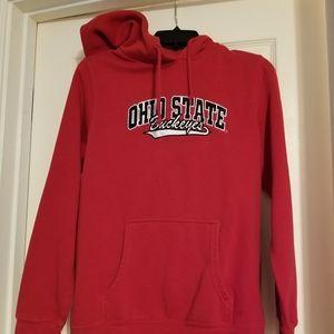 NCAA women's med hooded Ohio State sweatshirt